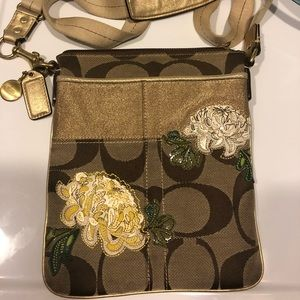 Beautiful embroidery side clutch purse